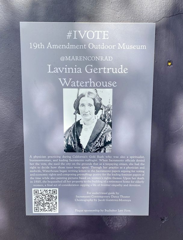 Lavinia Gertrude Watson Marker image. Click for full size.