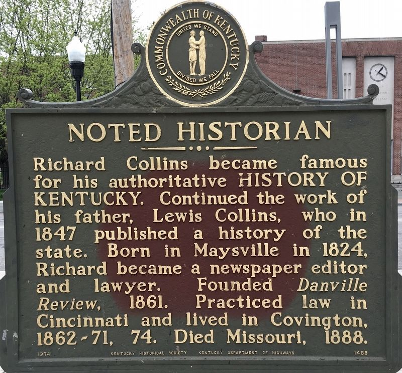 Noted Historian Marker image. Click for full size.