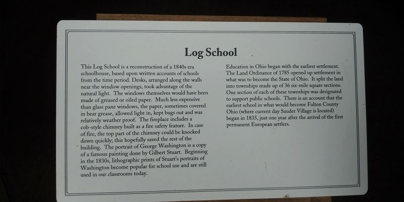 Log School Marker image. Click for full size.