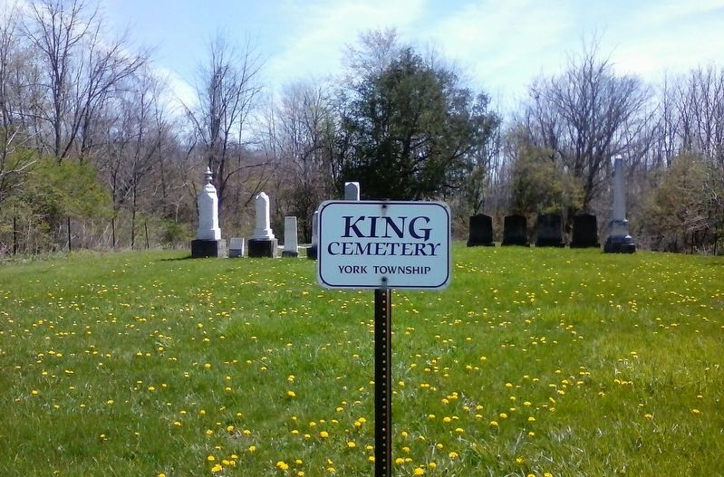 John King and King Family Cemetery Marker image. Click for full size.