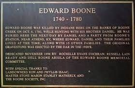 Edward Boone 1740- 1780 Marker image. Click for full size.