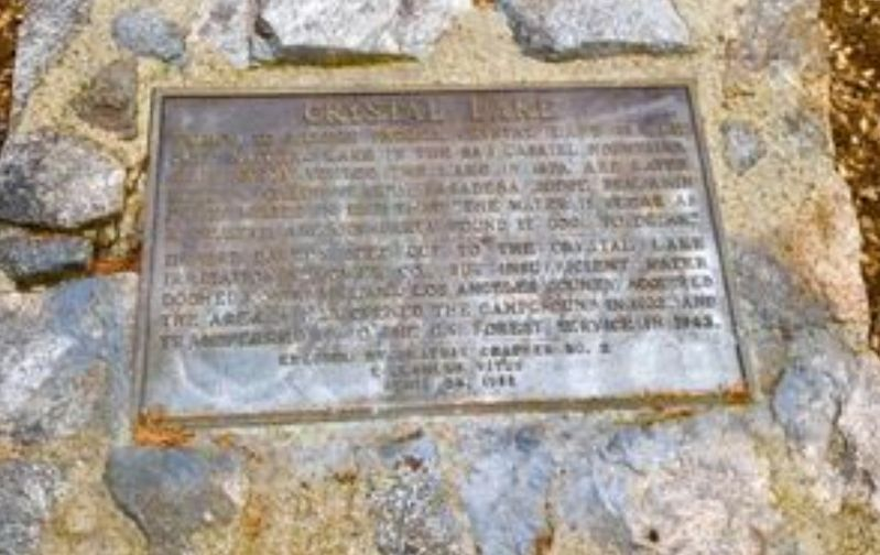Crystal Lake Marker image. Click for full size.