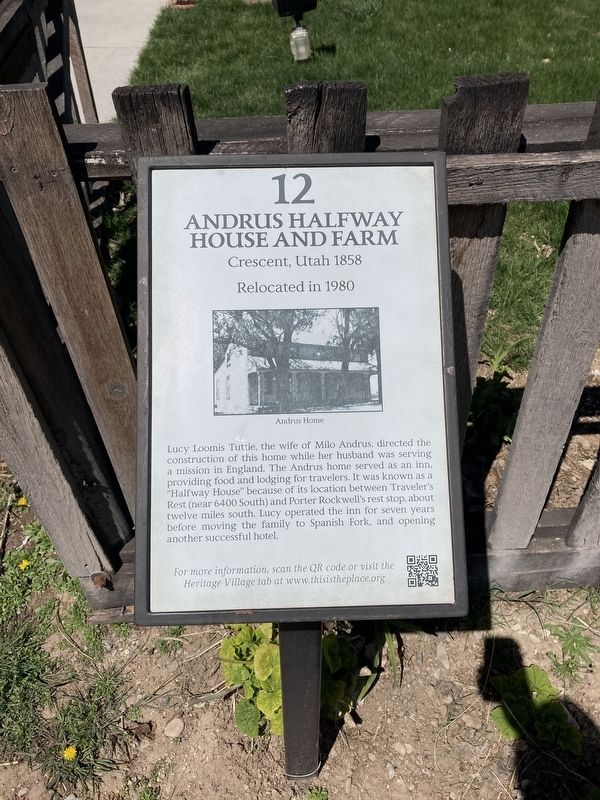 Andrus Halfway House and Farm Marker image. Click for full size.