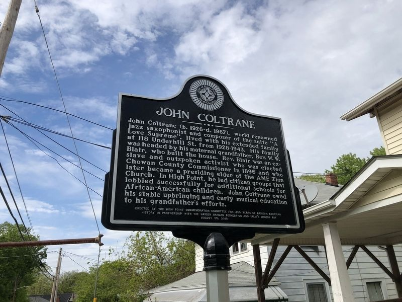 John Coltrane Marker image. Click for full size.