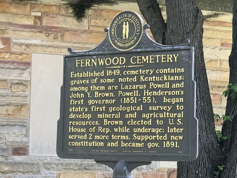 Fernwood Cemetery Marker (Side A) image. Click for full size.