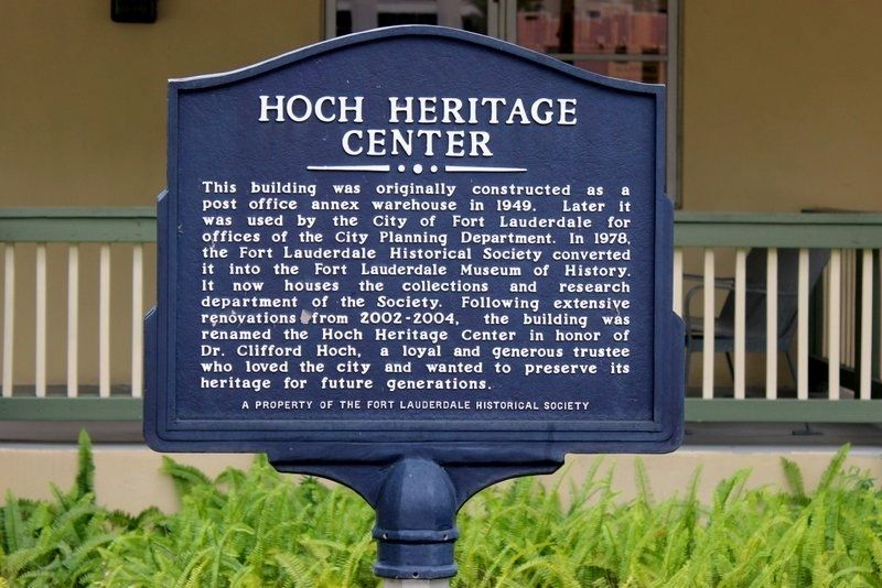 Hoch Heritage Center Marker image. Click for full size.