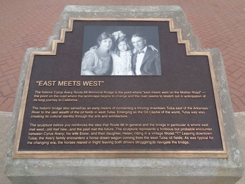 """East Meets West"" Marker image. Click for full size."