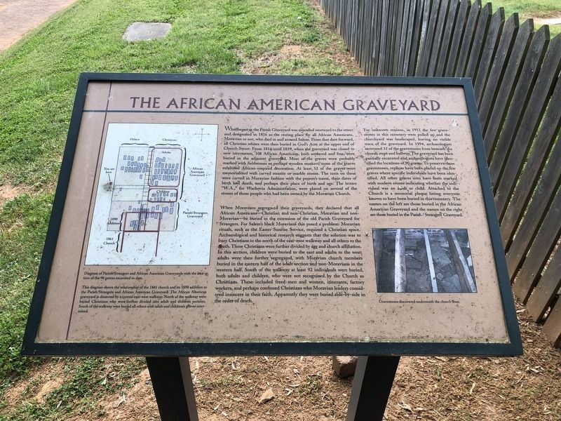The African American Graveyard Marker image. Click for full size.