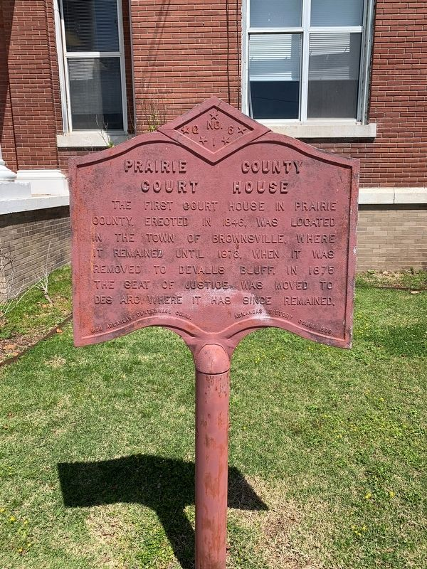 Prairie County Court House Marker image. Click for full size.
