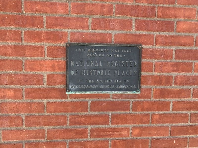 National Register of Historic Places plaque for the building image. Click for full size.
