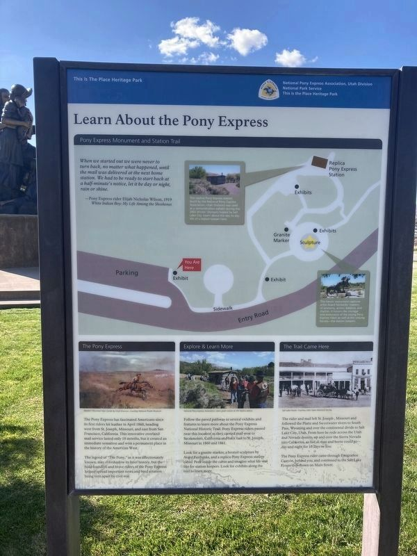 Learn About The Pony Express Marker image. Click for full size.