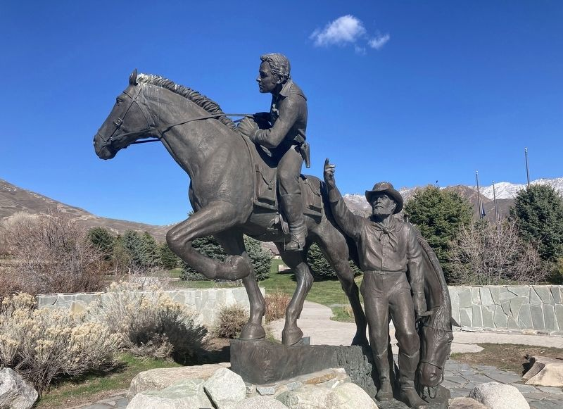 National Pony Express Monument image. Click for full size.