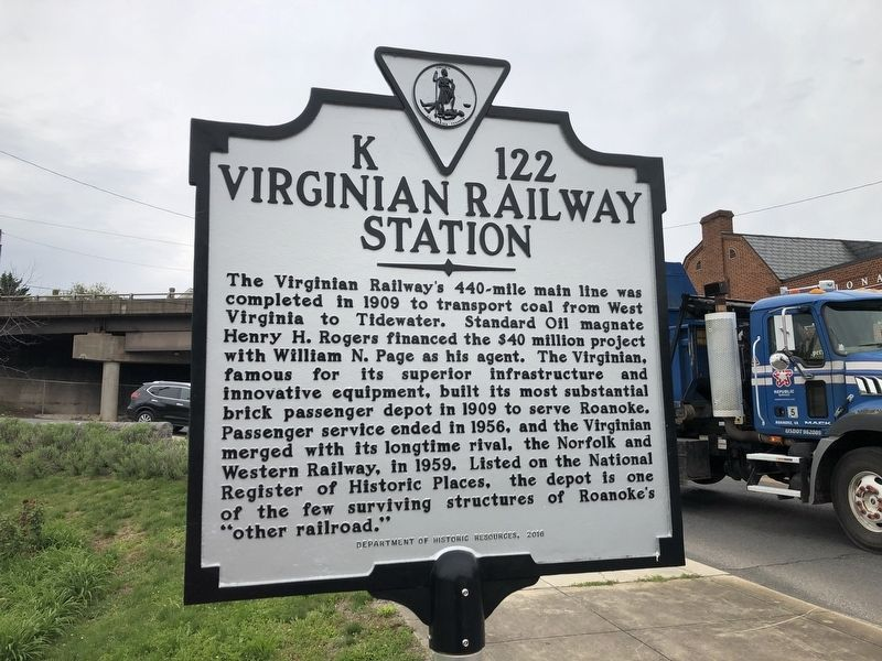 Virginian Railway Station Marker image. Click for full size.