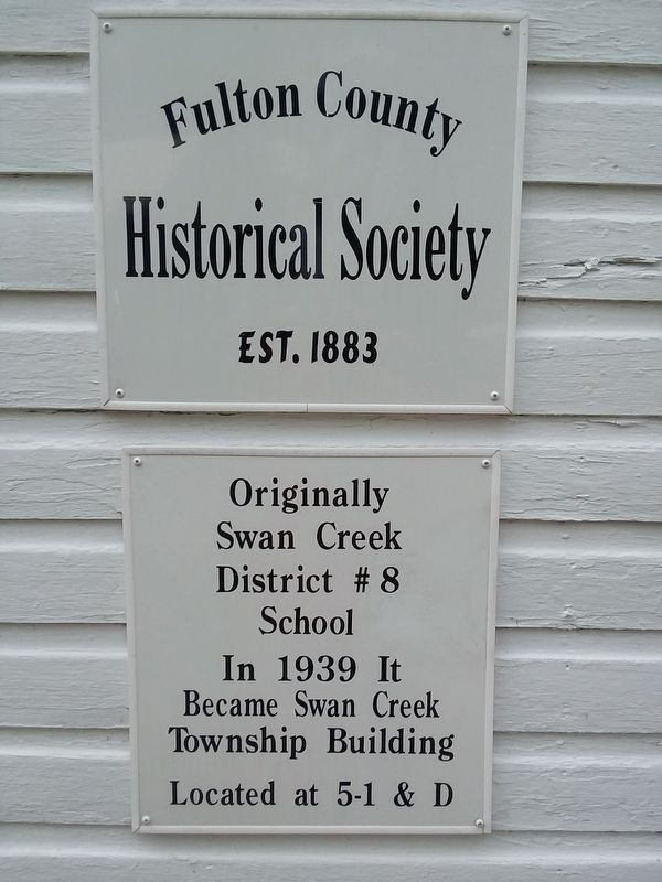 Original Swan Creek District #8 School Marker image. Click for full size.