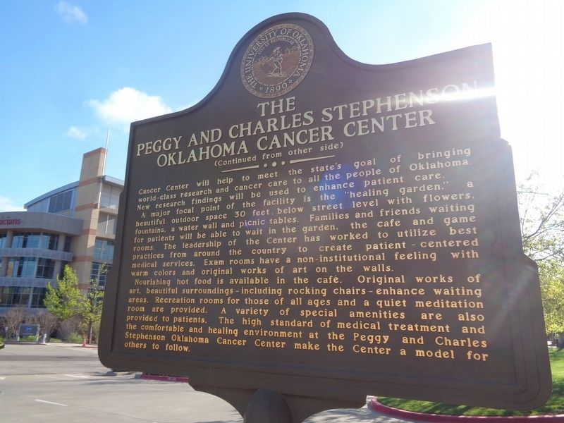 The Peggy and Charles Stephenson Oklahoma Cancer Center Marker image. Click for full size.