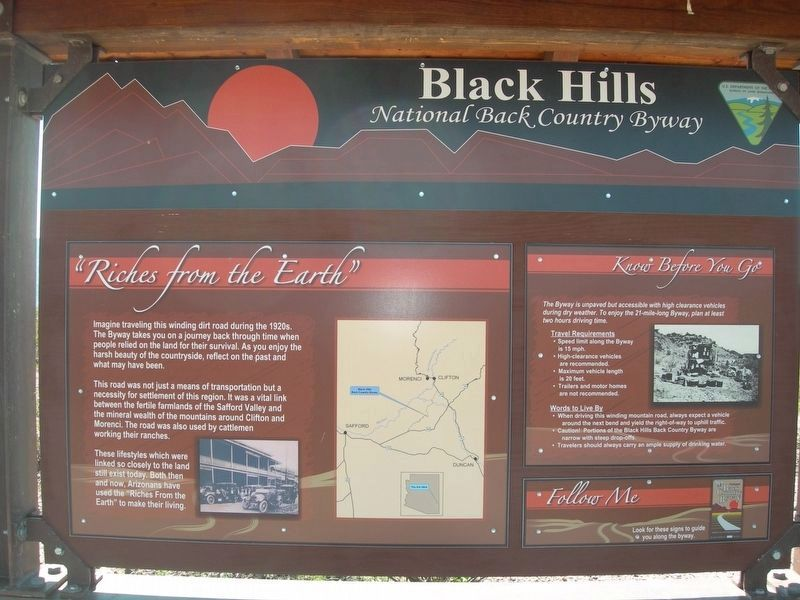 Black Hills National Back Country Byway Marker image. Click for full size.