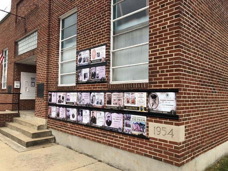 Veterans display on the building image. Click for full size.