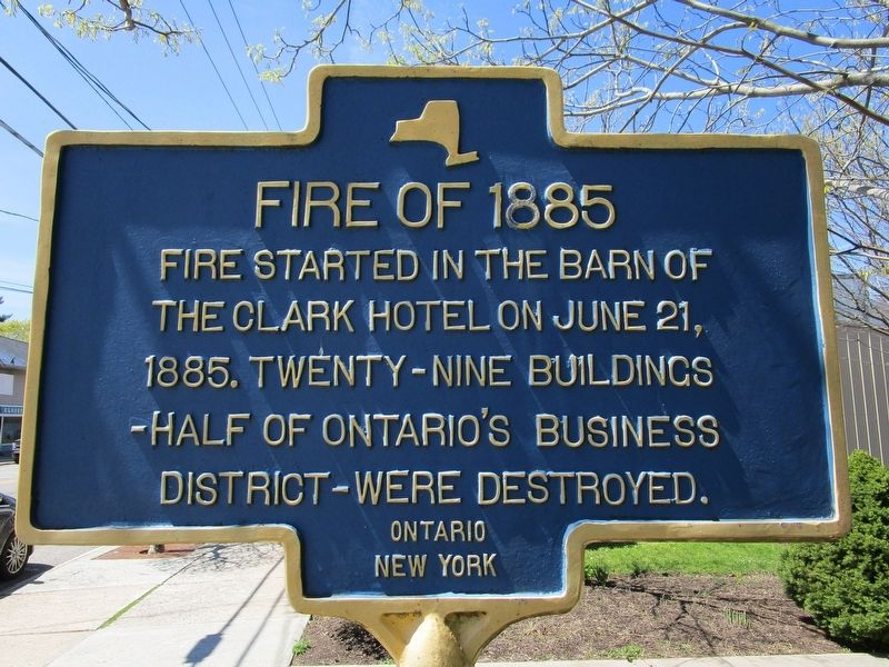 Fire of 1885 Marker image. Click for full size.