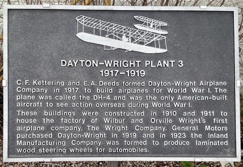 Dayton-Wright Plant 3 Marker image. Click for full size.