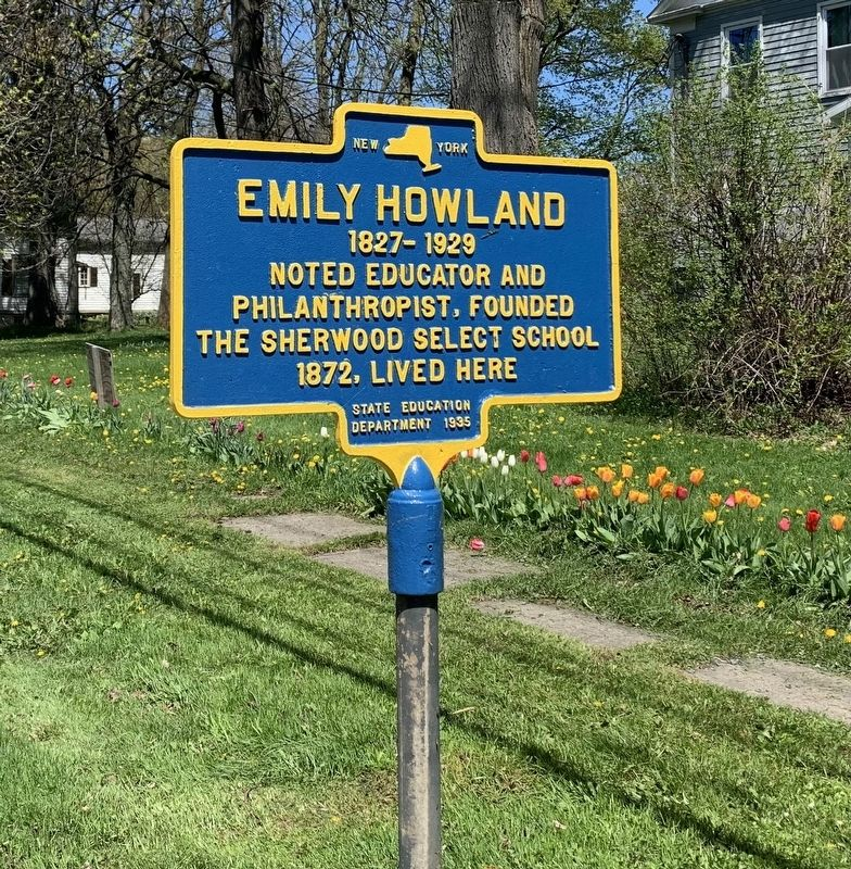 Emily Howland Marker image. Click for full size.