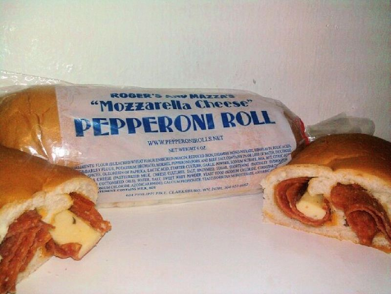 Roger's and Mazza's Mozzarella Cheese Pepperoni Roll image. Click for full size.