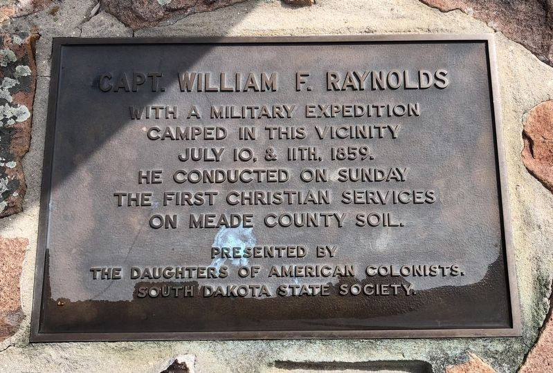 Capt. William F. Raynolds Marker image. Click for full size.