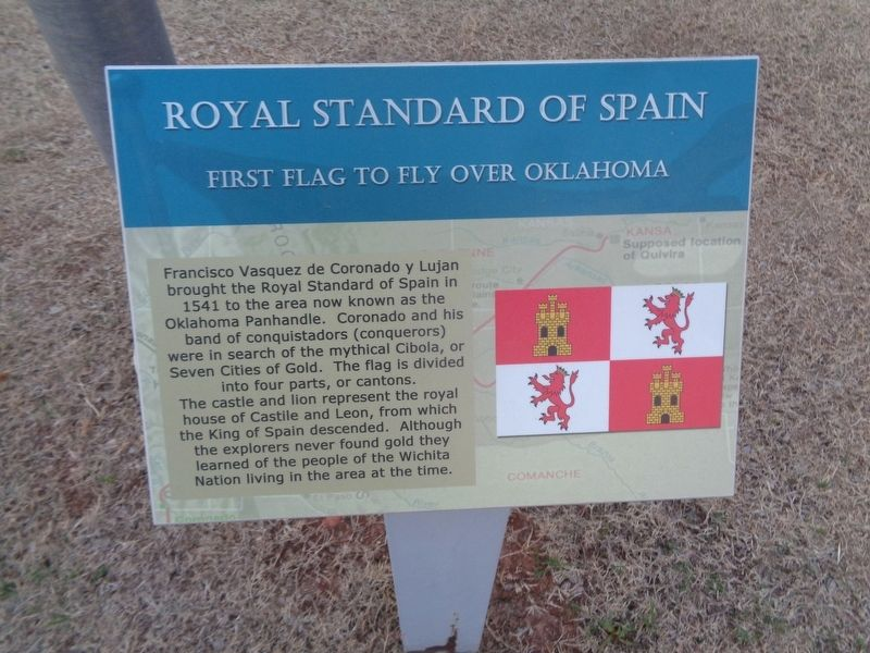 Royal Standard of Spain Marker image. Click for full size.